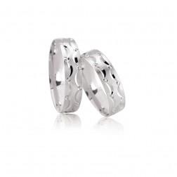 Trouwringen zilver zirkonia €97.-